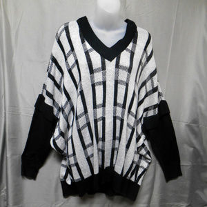 NWOT RD Style gray black sweater 1X